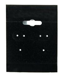 1000 Black Hanging Earring Cards 2h X 1 1/2w Jewelry Display With Lip