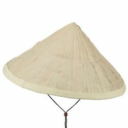 Large Straw Asian Bamboo Conical Sun Hat 16 Japanese Vietnam For 2 Pc