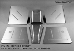 Chevy Car Front Floor Pan Kit For Small Block Firewall 1937-1939 Ems 146