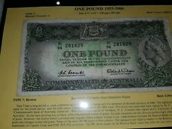 Commonwealth Of Australia 1953-1966 One Pound Note Prefix And039and039hi94 281829and039and039