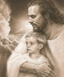 Forever Jesus Christ And Boy Print Picture By David Bowman Religious Spiritual Art