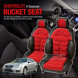 Bowtie Emblem Logo Bucket Seat Cushion Cover 2seat For Chevrolet 2006-2011 Epica