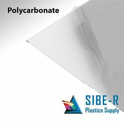 Sibe-r Plastic Supply℠ Polycarbonate Clear Plastic Sheets 0.030 Thick