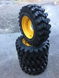 4 Camso Sks753 10-16.5 Skid Steer Tires/wheels/rims For New Holland - 10x16.5