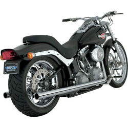 Vance And Hines Chrome Softail Duals Exhaust For 1997-2011 Harley Softail