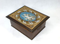 Casket With Beadwork About 1850 Bead Work Glass Beads France