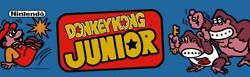 Donkey Kong Jr Dedicated Arcade Marquee Andndash 22.3andprime X 5.8andprime Available In 26 X 8