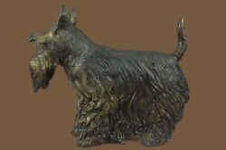 Bronze Sculpture Statue Large Scottish Terrier  Deco Garden Yard Figure Gift MB