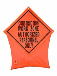 Construction Work Zone Portable Safety Nylon Pop Up Road Sign 36x36
