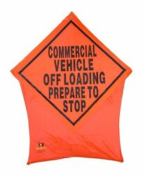 Vehicle Off Loading Portable Safety/construction Nylon Pop Up Road Sign 36x36