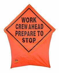 Work Crew Ahead Portable Safety/construction Nylon Pop Up Road Sign 36x36