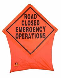 Emergency Operations Portable Safety/construction Nylon Pop Up Road Sign 36x36