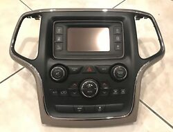 JEEP GRAND CHEROKEE 2014 2015 2016 FACTORY RADIO AND BEZEL 5 HEATER CONTROL OEM