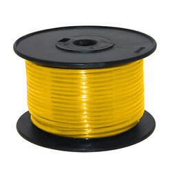 Wire 16 Awg Yellow 100ft Roll Ul Fine Strand Tinned Copper
