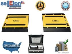 Op-928-1624 16 X 24 X 2 Two Portable Weigh Pads / Indicator And Printer/ 5000