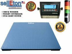 Op-916-0-5v Ntep 40 X 40 Floor Scale Check Weigher / Weight Control / Stag Lig