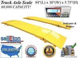New 7and039 X 30 Heavy Duty Industrial 60k Lbs Semi Truck Car Weighing Axle Scale
