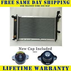 Radiator With Cap For Ford Mercury Fits Tempo Topaz  L4 4Cyl V6 6Cyl 1322WC