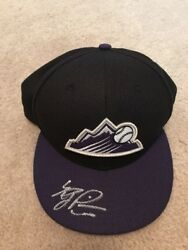 Riley Pint Signed Rockies 59/50 On Field Hat