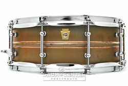 Ludwig Copper Phonic Snare Drum 14x5 Raw W/ Tube Lugs - Lc661t