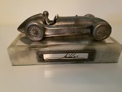 Mario Andretti-indy Car-autographed Limited Edition Michael Ricker Pewter Statue