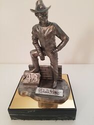 Richard Petty-nascar-autographed Limited Edition Michael Ricker Pewter Statue