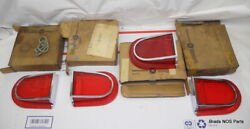 Nos Mopar 1966 Dodge Dart 270 Gt Tail Lamp Lenses W Chrome Bezels 4 Piece Set