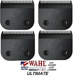 4-wahl Ultimate Competition 40 Bladepet Grooming Fit Most Oster,andis Clippers