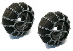 2 Link Tire Chains And Tensioners 16x6.5x8 For Mtd / Cub Cadet Lawn Mower Tractor