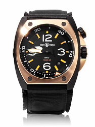Bell And Ross Marine 92 Pvd Steel 44mm Automatic Br02-pinkgold-ca
