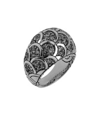 John Hardy Legends Naga Collection Diamond Scale Dome Ring - Size 7 W/ Gift Box