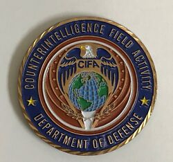 Dept Of Defense Cifa Counterintelligence Field Activity Director's Coin Ci And Le