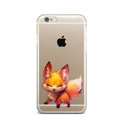 Cute Fox Animal Art Design Silicone Rubber Gel Case For IPhone 4S 5S 6S 7+ 8+ X