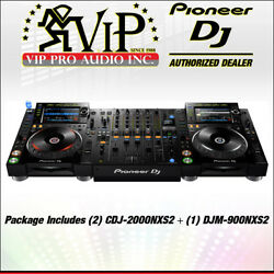 2x Pioneer CDJ-2000NXS2 DJ MULTI PLAYER + 1x DJM-900NXS2 4-Channel Digital Mixer