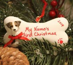 Cutest Jack Russell Terrier Christmas Bone Ornament  with Free Personalization