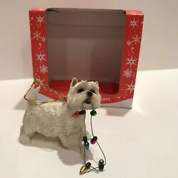 SANDICAST WEST HIGHLAND TERRIER with lights — NEW IN BOX