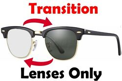 TRANSITION GREY RB2176 ClubMaster Anti Glare Replacement Lens Ray Ban 49mm 51mm