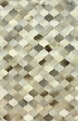 Handmade Natural Cowhide Leather Rug - Various Sizes - Conch And039reflectand039