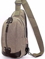 Lot of 36 Biker's Sling Cross Body Bag Cycle Chest Canvas Fanny Backpack  JTC