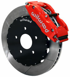 Wilwood Disc Brake Kitfront2005-2014 Ford Mustang13 Rotorsred Calipers