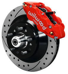 Wilwood Disc Brake Kit,front,for Wwe Prospindle,13 Drilled Rotors,red Calipers