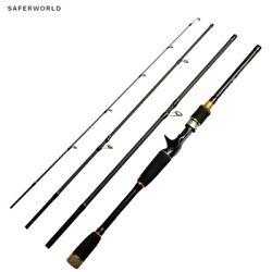 Fishing Rod Spinning Pole Casting Telescopic Sea River Fly Tackle Carbon Fiber S