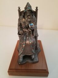 Winter Wizard-brian Limited Edition Michael Ricker Pewter Statue
