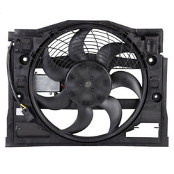 99-05 BMW 3-Series E46 AC Condenser Cooling Fan Motor Assembly with Control Unit