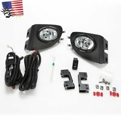 For 2002-2005 Civic Si Hatchback 3dr Clear Fog Lights W/bezel Switch Wire Ep3