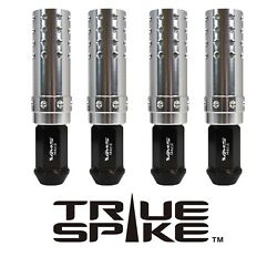 32 TRUE SPIKE 124MM 14X1.5 LUG NUTS SILVER EXTENDED MUZZLE BRAKE SPIKES BB