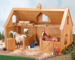 Breyer Traditional 302 Deluxe Wood Barn W/ Cupola In Stock Now