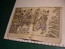 THE BLACK PANTHER november 22 1969 not complete but cool cartoon PIGS OINK
