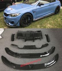 for BMW M4 F82 CARBON FIBER BODYKIT front lip side skirts rear diffuser