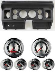 80-86 Ford Truck Black Dash Carrier W/ Auto Meter 3-3/8 American Muscle Gauges